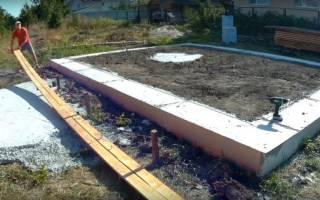 Как правильно сделать ленточный фундамент под дом?