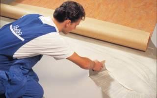 Чем можно приклеить линолеум к бетонному полу?