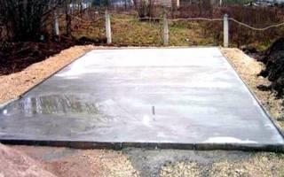 Марка бетона для фундамента бани