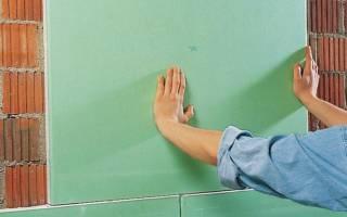 Монтаж гипсокартона к стене монтажной пеной