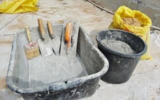 Количество песка и цемента в кубе раствора