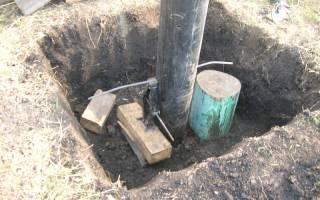Как забить трубу в землю для забора?