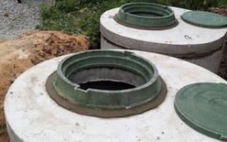 Как устроен септик из бетонных колец?