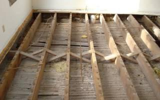 Заливка стяжки на деревянный пол