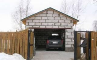 Двухэтажный гараж из пеноблоков своими руками