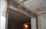Как сделать дверной проем в бетонной стене?