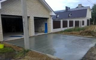 Как правильно заливать бетон во дворе?