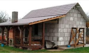 Как правильно построить баню из пеноблоков?