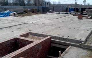 Технология укладки плит Перекрытие на фундамент
