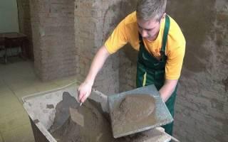 Какая пропорция цемента с песком для штукатурки?