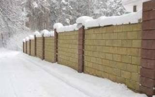 Забор из керамзитобетонных блоков своими руками