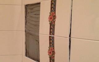 Укладка плитки на гипсовую штукатурку в ванной