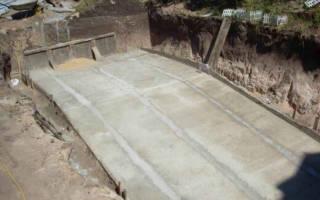 Как залить бетон под углом?