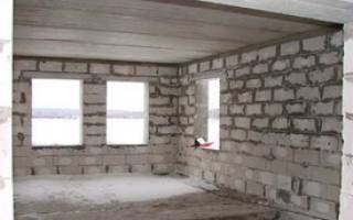 Отделка газобетонных стен внутри