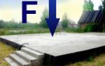 Грузовая площадь для сбора нагрузок на фундамент