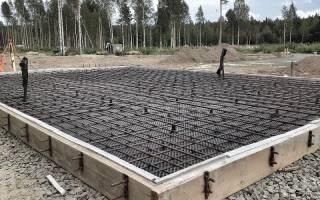 Расчет армирования фундаментной плиты