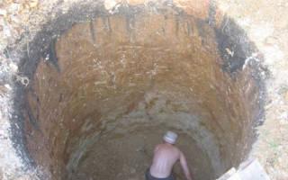 Глубина септика из бетонных колец