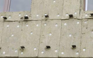 Как крепить минеральную вату к стене?