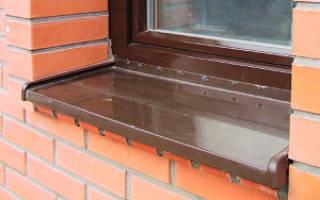 Как правильно установить отливы на пластиковые окна?