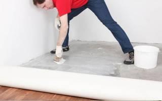 Как класть линолеум на бетонный пол?