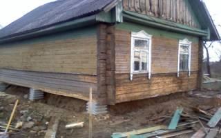 Переделка фундамента под домом