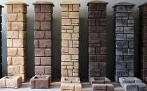 Колонные блоки для столбов забора