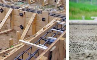 Стоимость заливки бетона с армированием и опалубкой