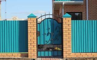 Размер калитки в заборе