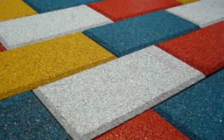 Резиновая тротуарная плитка своими руками
