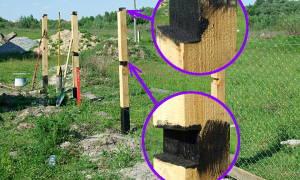 Защита деревянного забора от гниения