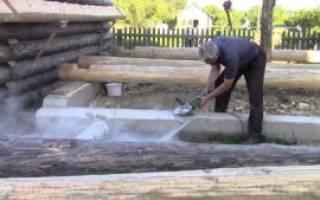Как поставить сруб бани на фундамент?