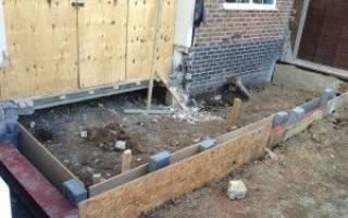 Как сделать фундамент под пристройку к дому?