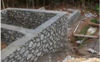 Фундамент из природного камня своими руками