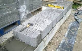 Как класть керамзитобетонные блоки?