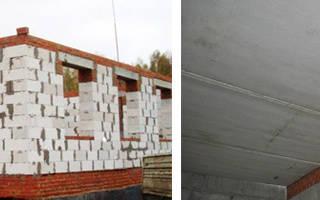 Армопояс из кирпича на стены из газобетона