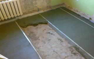 Какая пропорция цемента с песком для стяжки?