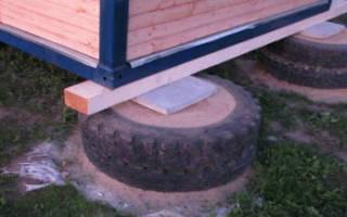 Фундамент из колесных покрышек