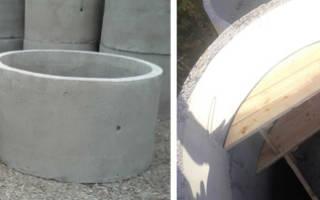 Погреб из бетонных колец 2м