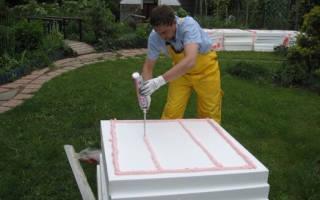 Как крепить пенопласт к бетонной стене?