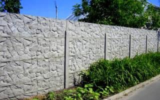 Как установить бетонный забор?