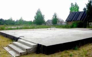Фундаментная плита под гараж