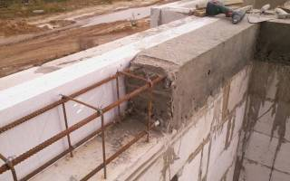 Армированный пояс по несущим стенам