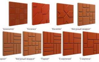 Тротуарная плитка из полимерных материалов