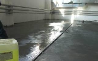 Покрытие бетонных полов от пыления