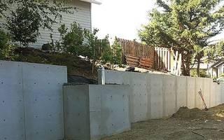 Технология возведения подпорных стен