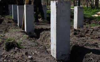 Фундамент на железобетонных сваях для частного дома