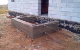 Фундамент под деревянное крыльцо