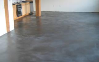 Чем обработать бетонный пол чтобы не пылил?