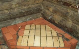 Как сделать фундамент под печку в бане?