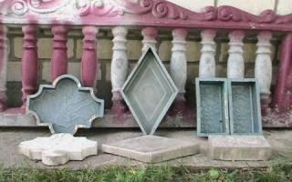 Пластиковые формы для изделий из бетона